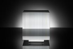 w.t.s.b.b. 1 Seitenansicht (2016) – 21x21x22 cm Optifloat, painted, glued, polished glass